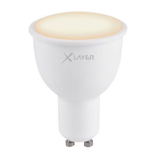 XLAYER LED »XLayer Smart Echo GU10 4.5W 380lm Warm- und Kaltwe«
