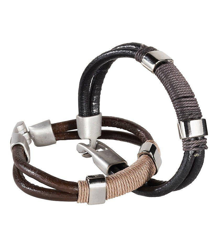 J. Jayz Armband (Set, 1 tlg.) in schwarz-braun