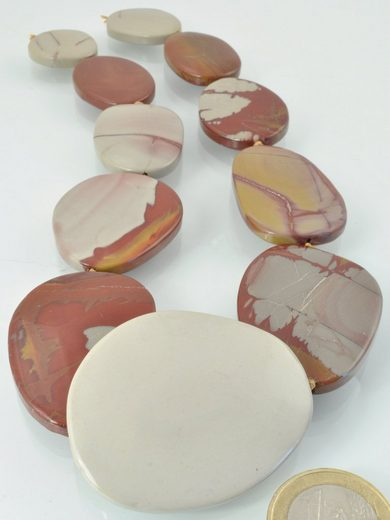 Adelia´s Kette ohne Anhänger »Noreena-Jaspis Steinstrang rund, oval - 40 cm«