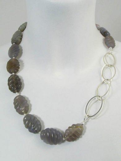 Adelia´s Kette ohne Anhänger »Achat-Botswana Stein Halskette«