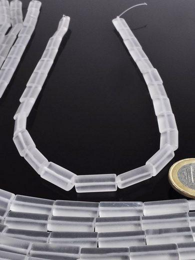 Adelia´s Kette ohne Anhänger »Bergkristall Steinstrang eckig - 40 cm«
