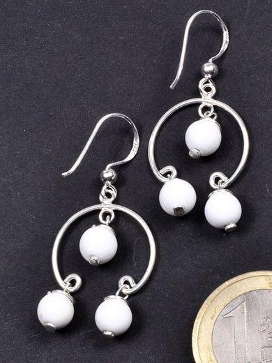 Adelia´s Paar Ohrhänger »Achat Ohrschmuck Ohrhänger - 925 Silber«