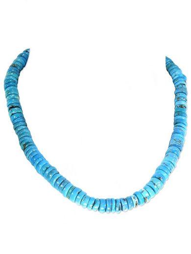 Adelia´s Kette ohne Anhänger »Türkis Stein Halskette - 925 Silber - 44 cm«