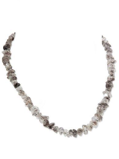 Adelia´s Kette ohne Anhänger »Bergkristall Stein Halskette - 925 Silber - 43 cm«