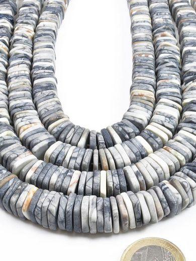 Adelia´s Kette ohne Anhänger »Picasso-Marmor Steinstrang eckig - 40 cm«