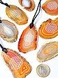Adelia´s Kette ohne Anhänger »Achat Stein Halskette - 45 cm«, Bild 1