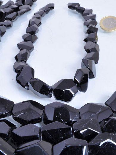 Adelia´s Kette ohne Anhänger »Turmalin schwarz Nugget Steinstrang«