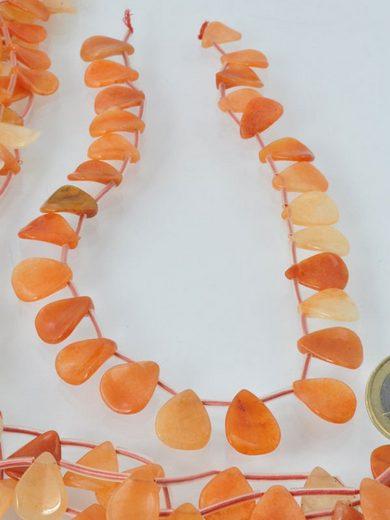 Adelia´s Kette ohne Anhänger »Aventurin orange Steinstrang rund, oval«