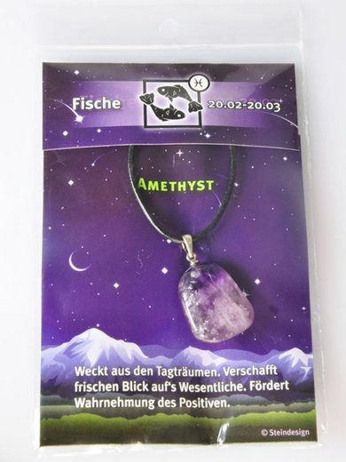 Adelia´s Kettenanhänger »Amethyst Schmuck Stein Anhänger - Stern - 925 Silber«