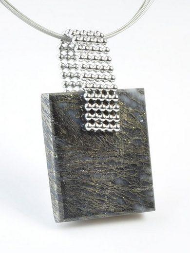Adelia´s Kettenanhänger »Pyrit Schmuck Stein Anhänger - 925 Silber«