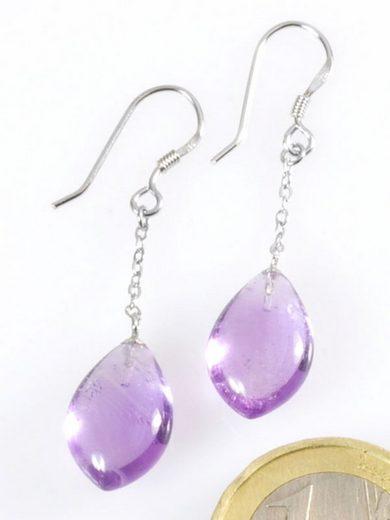 Adelia´s Paar Ohrhänger »Amethyst Ohrschmuck Ohrhänger - 925 Silber«