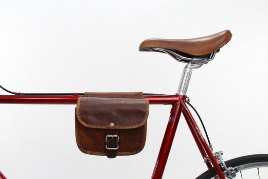 Gusti Leder Rahmentasche »Sabine S.«, Gepäckträgertasche Doppelpacktasche Fahrradtasche Ledertasche Vintage