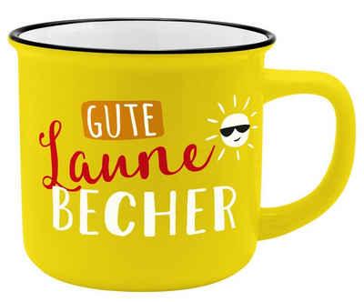 Sheepworld Tasse »Auswahl Sheepworld Gruss & Co - Lieblings- Kaffe- Becher Tasse in Emaille Optik Art: Gute Laune«