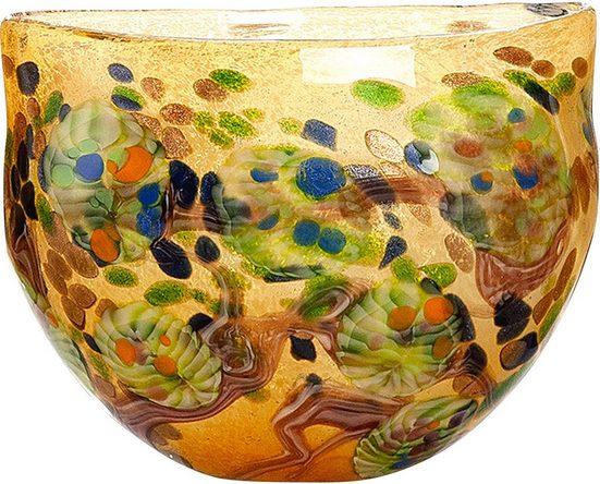 GILDE GLAS art Dekoschale »Primavera«, H 24,5 x B 30 x T 15 cm