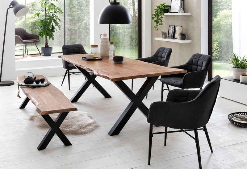 Premium collection by Home affaire Esstisch »Manhattan«, mit Baumkante