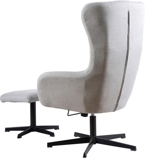 Homexperts Sessel »Soul«  Sessel mit Wippmechanik inkl. Hocker