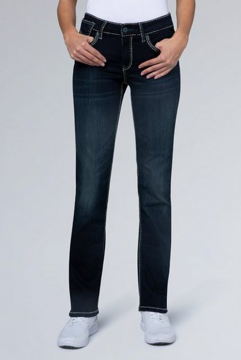 SOCCX Stretch-Jeans »CO:LE« mit Ziernähten