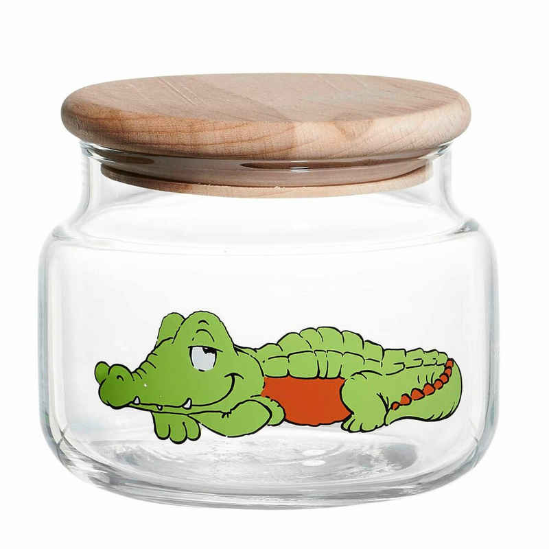 Ritzenhoff & Breker Vorratsdose »Happy Zoo - Krokodil Koko«, Glas, (1-tlg)