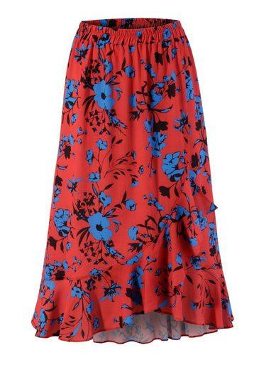 Aniston CASUAL Sommerrock mit trendigen Volants, vorne etwas kürzer