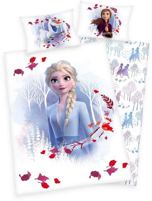Babybettwäsche »Disney´s Eiskönigin 2«, Walt Disney, mit Elsa, Anna und Olaf | Kinderzimmer > Textilien für Kinder > Kinderbettwäsche | Baumwolle | Walt Disney