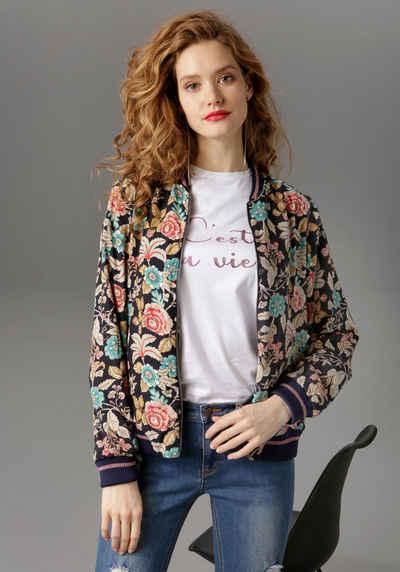 Aniston CASUAL Blouson mit Blumendruck