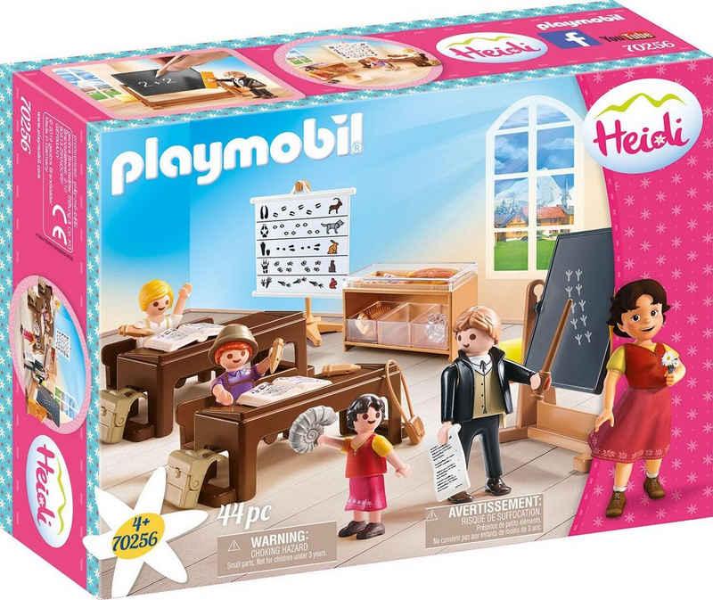 Playmobil® Konstruktions-Spielset »Schulunterricht im Dörfli (70256), Heidi«, (44 St), Made in Germany