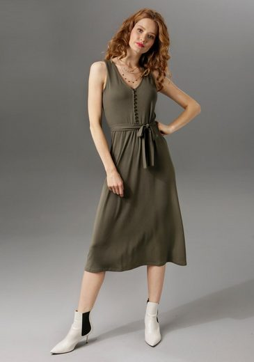 Aniston CASUAL Sommerkleid unifarben oder mit farbenfrohem Druck - du hast die Wahl