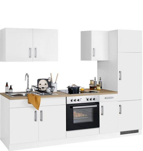 HELD MÖBEL Küchenzeile »Gera«, mit E-Geräten, Breite 270 cm