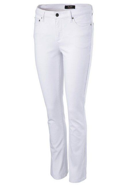 Hosen - Aniston CASUAL Bootcut Jeans in knöchelfreier Länge › weiß  - Onlineshop OTTO