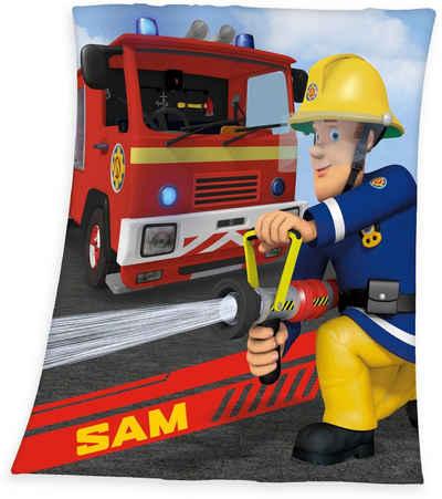 Kinderdecke »Feuerwehrmann Sam«, Feuerwehrmann Sam, weiche Qualität
