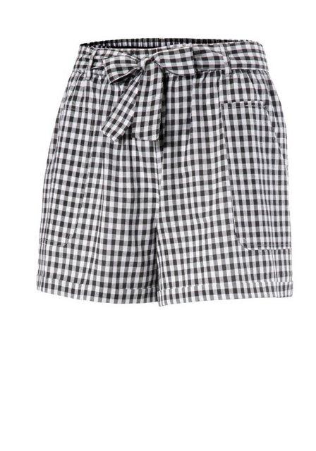 Hosen - Aniston CASUAL Shorts mit abnehmbarem Bindeband › schwarz  - Onlineshop OTTO