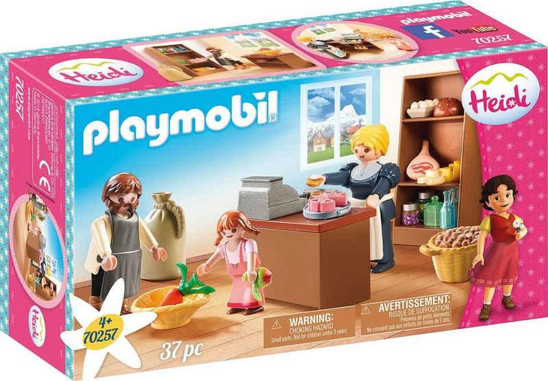 Playmobil® Konstruktions-Spielset »Dorfladen der Familie Keller (70257), Heidi«, (37 St), Made in Germany