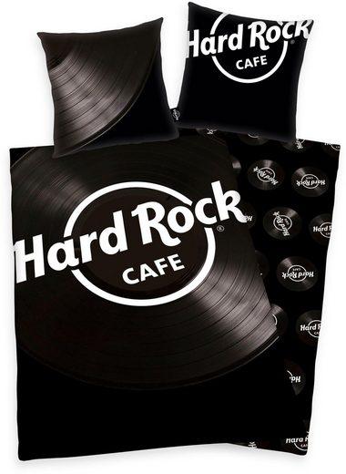 Wendebettwäsche »Hard Rock«, mit Schallplatten-Motiv