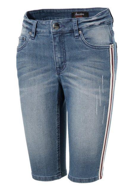 Hosen - Aniston CASUAL Jeansbermudas mit Galonstreifen ›  - Onlineshop OTTO