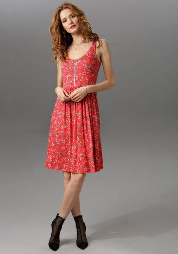 Aniston CASUAL Sommerkleid mit Stern-Anhänger am Reißverschluss