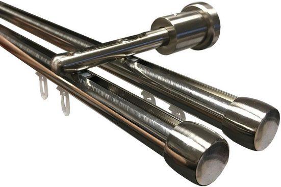 Gardinenstange »Linz«, indeko, 2-läufig, Wunschmaßlänge, Weiß-Glanz 19mm Ø
