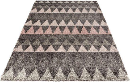 Hochflor-Teppich »Triangle«, MINT RUGS, rechteckig, Höhe 35 mm, besonders weich durch Microfaser