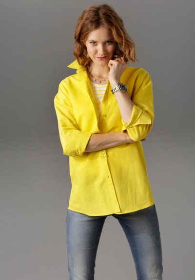Aniston CASUAL Hemdbluse mit Leinen