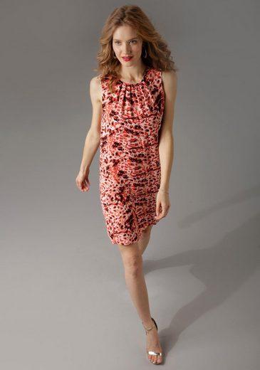 Aniston CASUAL Sommerkleid im rot-schwarzem Animal Print -NEUE KOLLEKTION