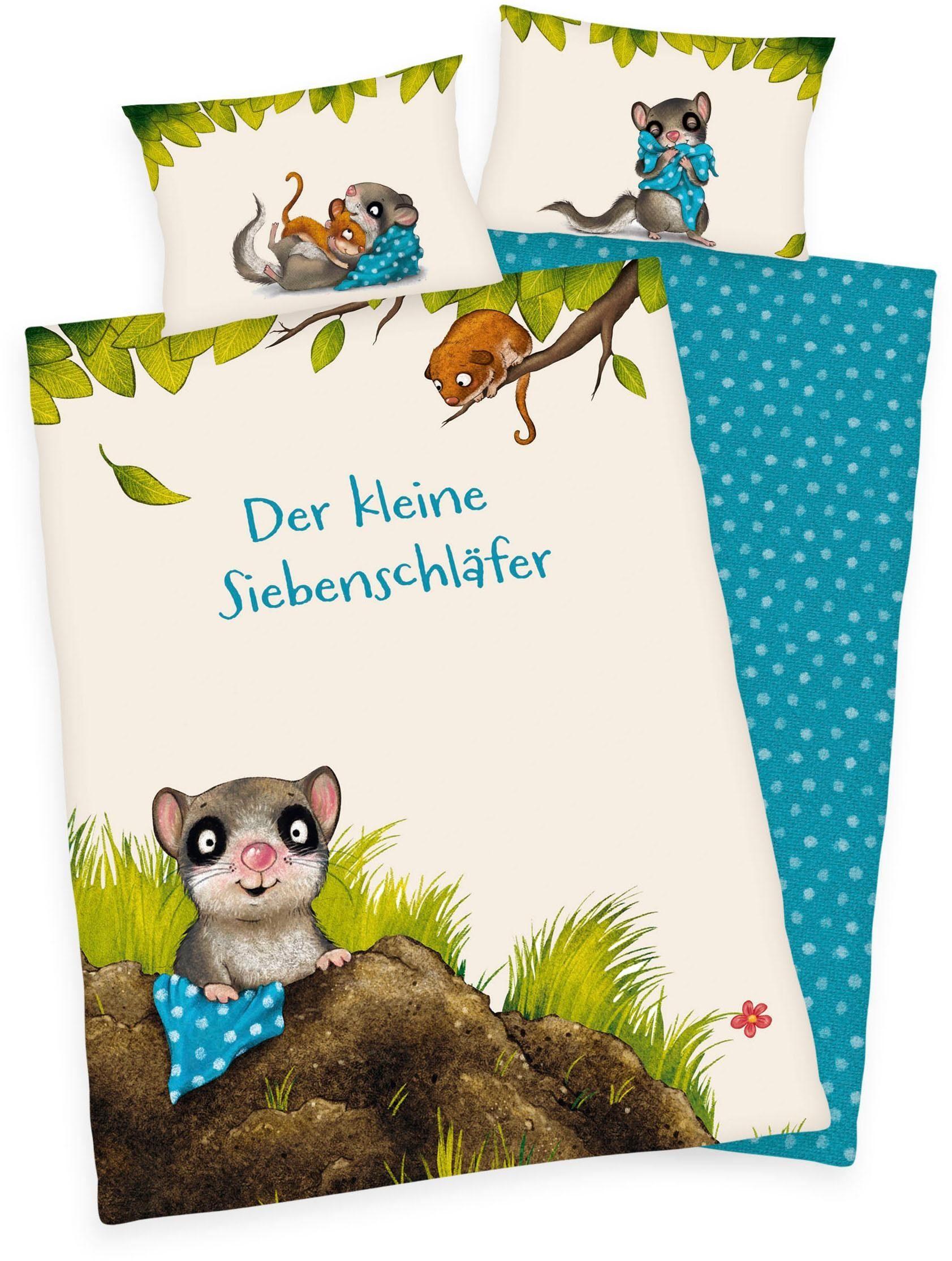 Herding Baby Bettwäsche Flanell Jana Nashorn Sternchen 100 x 135 Geschenk NEU