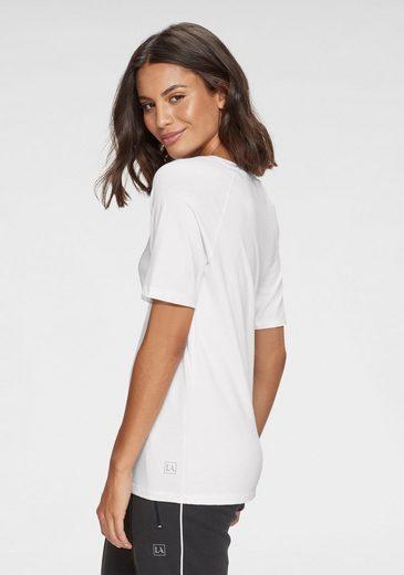 LASCANA T-Shirt mit Rundhalsausschnitt