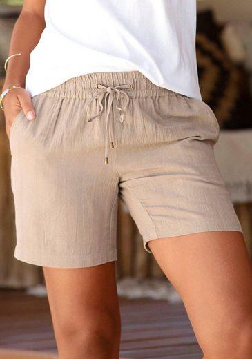 LASCANA Shorts aus Leinenmix
