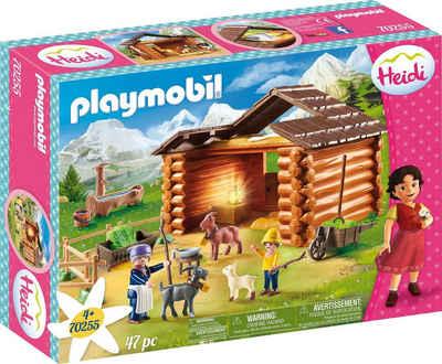 Playmobil® Konstruktions-Spielset »Peters Ziegenstall (70255), Heidi«, (47 St), Made in Germany