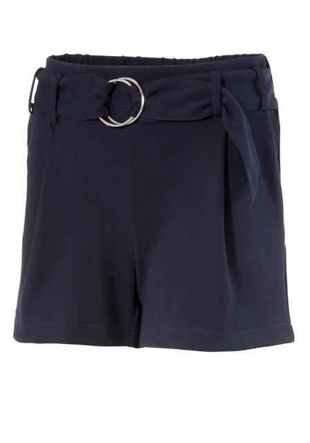 Hosen - Aniston CASUAL Shorts in uni, gestreift oder geblümt › blau  - Onlineshop OTTO
