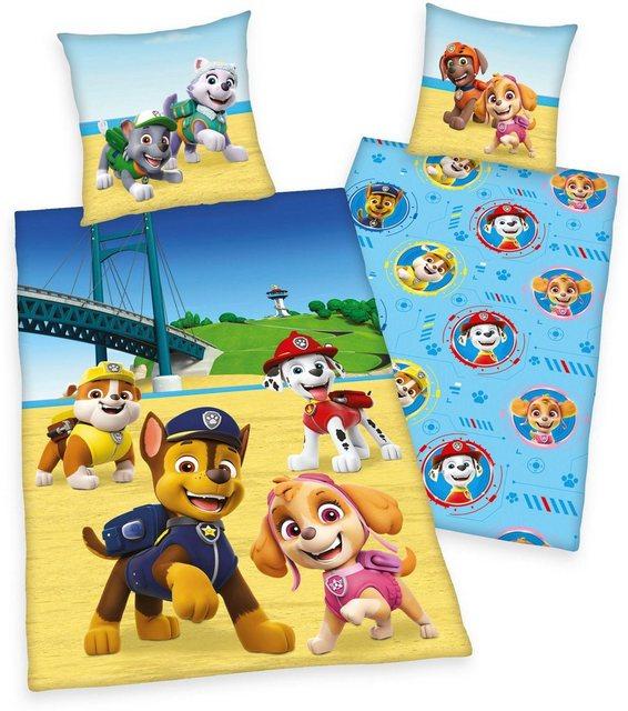 Kinderbettwäsche »Paw Patrol«, PAW PATROL, mit süßen Hunden | Kinderzimmer > Textilien für Kinder > Kinderbettwäsche | Baumwolle | Paw Patrol