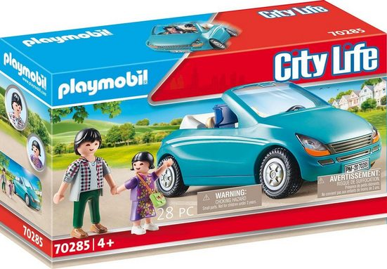 Playmobil® Konstruktions-Spielset »Papa und Kind mit Cabrio (70285), City Life«, ; Made in Germany