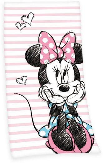 Walt Disney Badetuch »Minnie Mouse« (1-St), mit süßem Motiv