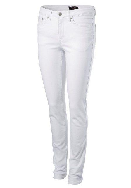 Hosen - Aniston CASUAL Slim fit Jeans regular waist › weiß  - Onlineshop OTTO