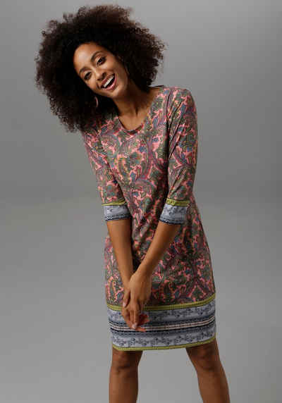 Aniston SELECTED Jerseykleid im farbenfrohen Muster