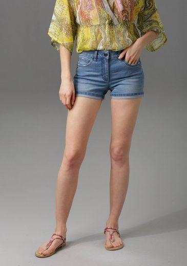 Aniston CASUAL Jeansshorts mit leichten Abriebeffekte